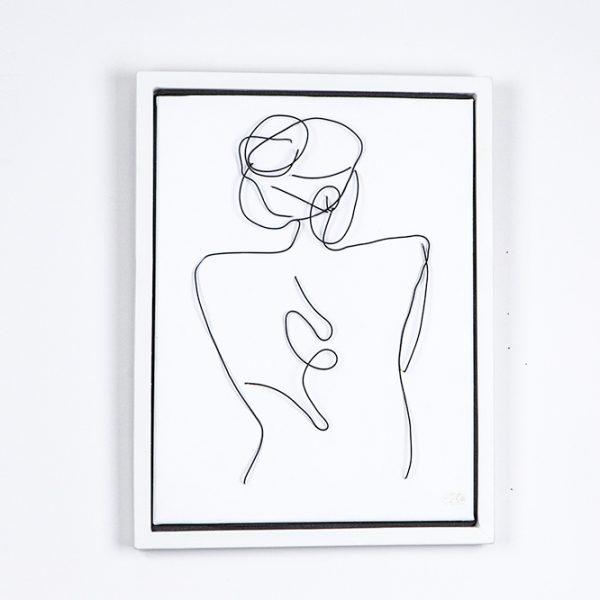 portrait wire on canvas